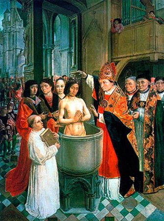 O batismo de São Clóvis